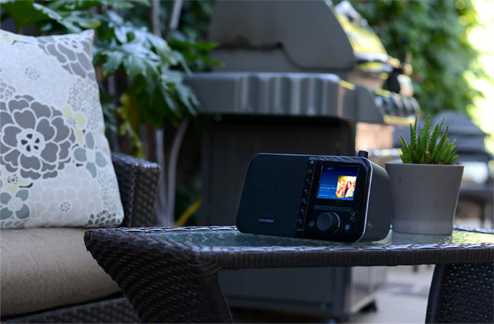 Aparelho conta com Chromecast, permite sintonizar rádios e funciona como caixa de som Bluetooth e USB (Foto: Divulgação/Grace Digital)