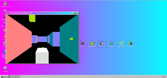 Arena 93 lembra as antigas telas de descanso do sistema da Microsoft (Foto: Reprodução/Elson de Souza)