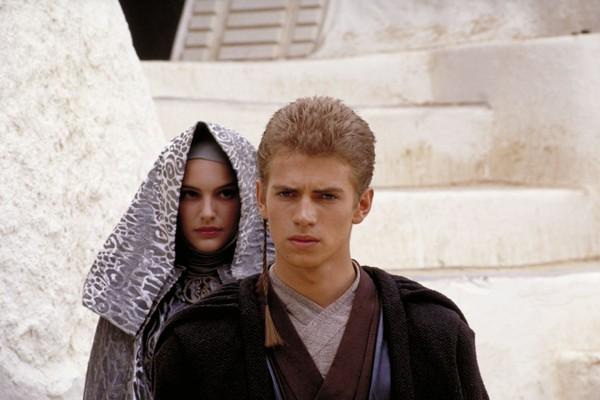 Natalie Portman e Hayden Christensen na saga Star Wars (Foto: Divulgação)