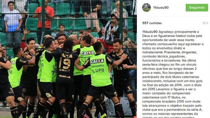 Dudu figueirense torcida  (Foto: Reprodução/Instagram)