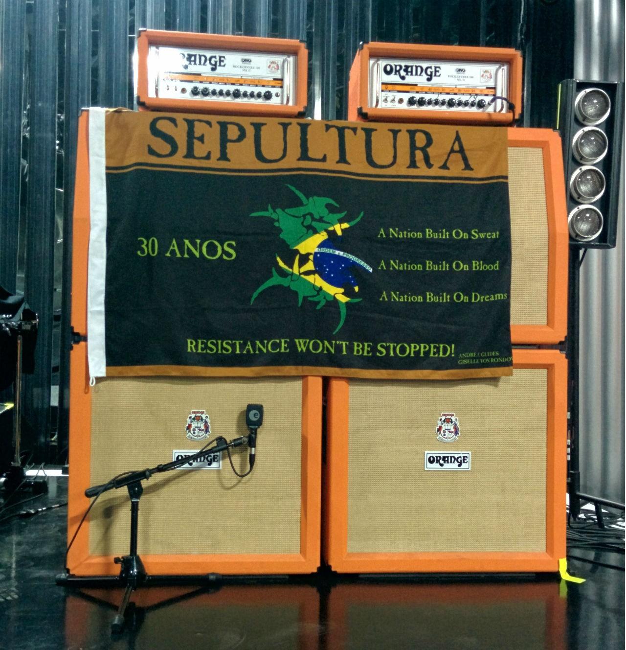 Palco Sepultura (Foto: Livio Vilela/Multishow)