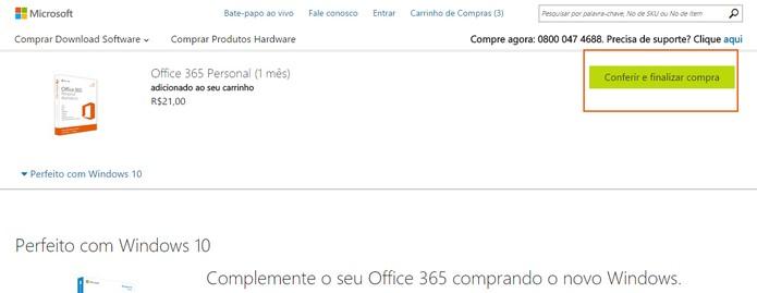 Confirme e continue a compra do Office 2016 (Foto: Reprodução/Barbara Mannara)