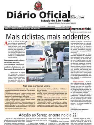 Diário Oficial do Estado de São Paulo (Foto: Reprodução)