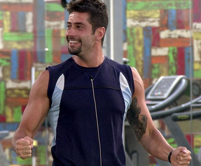Marcelo venceu a prova do Quem Sabe Mais (Foto: TV Globo)