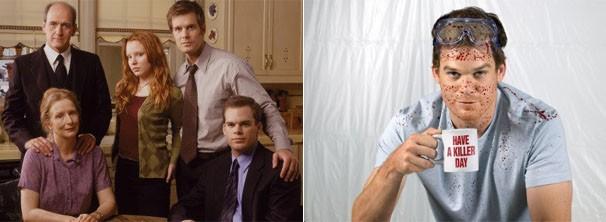 Michael C. Hall nas séries 'A Sete Palmos' e 'Dexter' (Foto: divulgação)