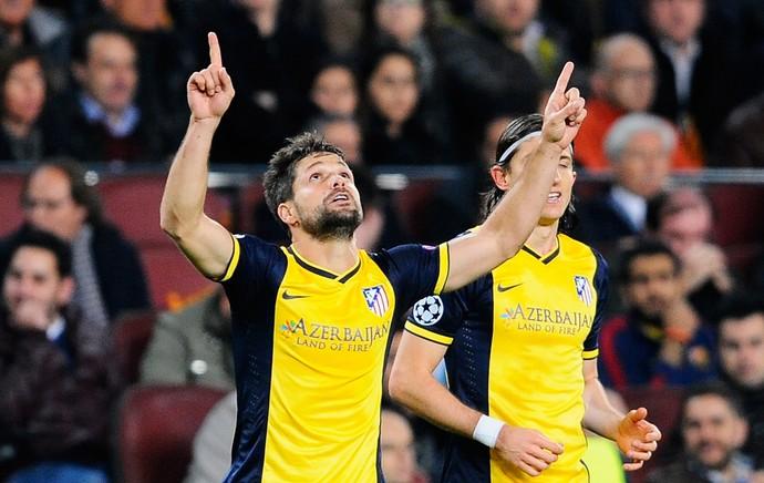 Diego comemora, Barcelona x Atlético de Madrid (Foto: Getty Images)