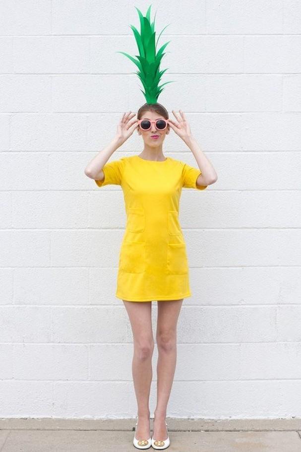 Tem um vestidinho amarelo? Então já pode transformá-lo em fantasia de abacaxi! (Foto: Reprodução/Pinterest)