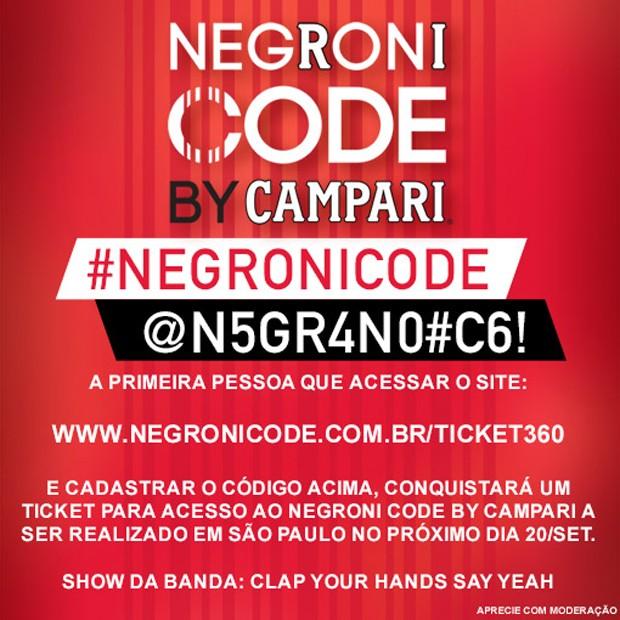 Negroni CODE GQ (Foto: Divulgação)