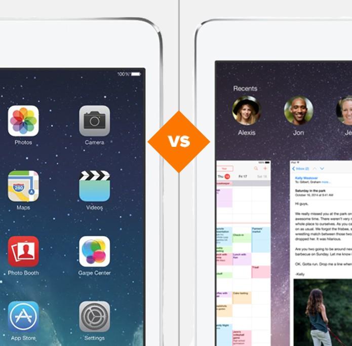 iPad Air ou iPad Air 2? Confira quem ganha no comparativo (Foto: Arte/TechTudo)