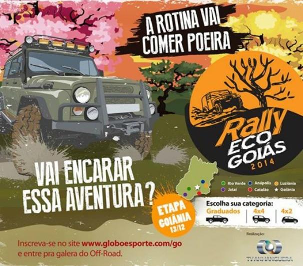 Última etapa do Rally Eco Goiás acontece em Goiânia. (Foto: TV Anhanguera)