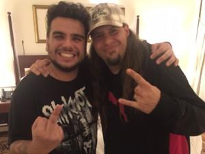 Felipe se encontrou com integrantes da banda em hotel na Zona Sul do Rio (Foto: Reprodução/Arquivo Pessoal)