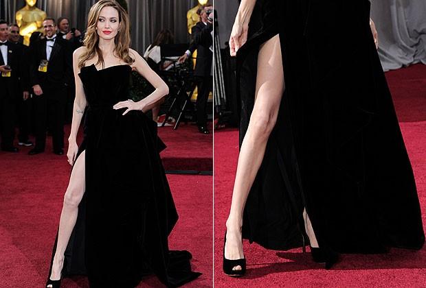 Separar (um pouco!) as pernas, ao estilo de Angelina Jolie, ajuda a passar uma imagem de força (Foto: Getty Images)