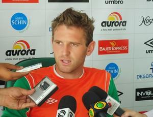 Fabiano zagueiro Chapecoense entrevista (Foto: Aguante Comunicação/Chapecoense)