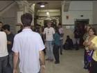Servidores protestam contra projeto que reduz repasse ao Iprev em Santos