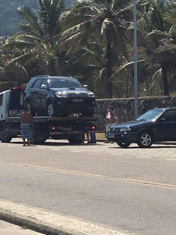 Carro do filho de Marcelo Novaes (Foto: EGO)