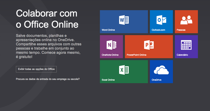 Office Online oferece alguns dos aplicativos do Microsoft Office para download (Foto: Divulgação/Microsoft)