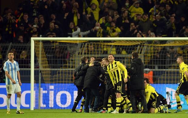 Borussia comemora, Borussia Dortmund x Málaga (Foto: AFP)
