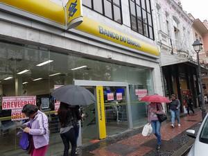 Banco do Brasil Centro de Petrópolis (Foto: Bruno Rodrigues/G1)