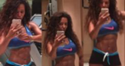 Ex-Spice Girl Mel B posa aos 41 anos e mostra seu tanquinho (Reprodução)