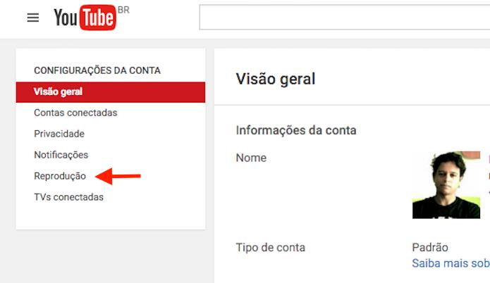 Acessando as opções de reprodução de um perfil no YouTube (Foto: Reprodução/Marvin Costa)