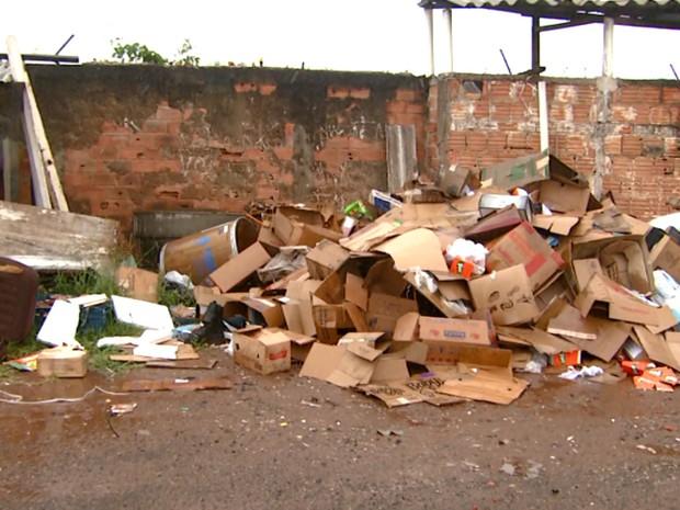 Lixo e entulho podem virar locais de proliferação do mosquito Aedes aegypti em Sumaré (Foto: Reprodução / EPTV)