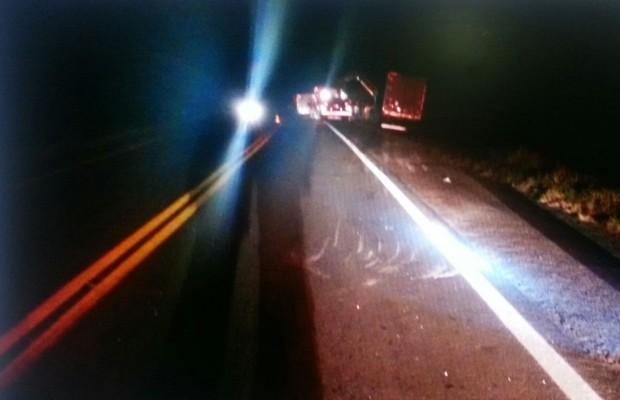 Acidente no km 210 da BR-020 mata 5 pessoas em Posse de Goiás (Foto: Divulgação/PRF)