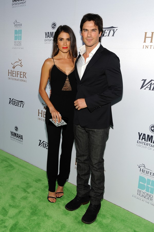 A atriz Nikki Reed e o ator Ian Somerhalder (Foto: Getty Images)