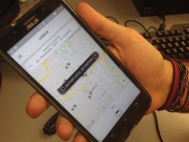 Uber começou a atuar em Goiânia e dividiu opiniões Goiás (Foto: Vanessa Martins/G1)