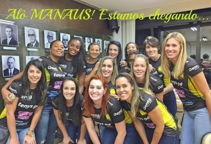 Jogadoras Praia Clube vôlei Fabiana Manaus Superliga São Caetano (Foto: Reprodução/Instagram)
