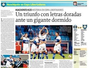 Jornal El Sur sobre o Huachipato (Foto: Reprodução)