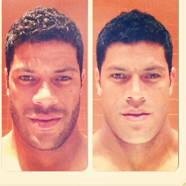 Antes e depois de Hulk (Foto: Instagram/ Reprodução)