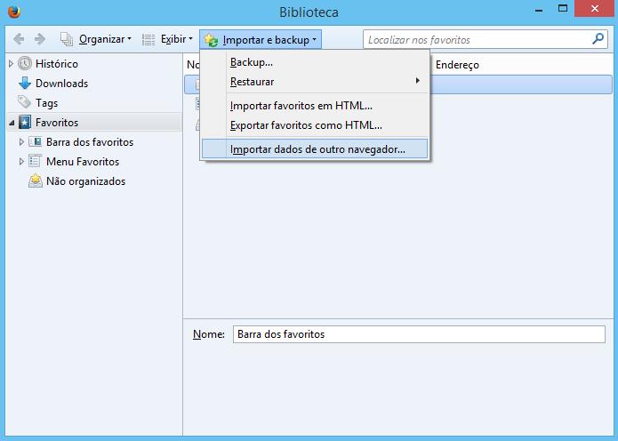 Executando o assistente de importação do Firefox (Foto: Reprodução/Helito Bijora)