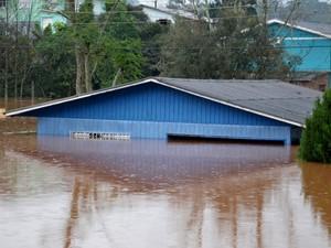 iraí rio uruguai chuva rs (Foto: Fernando Sucolotti/Divulgação)