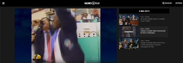 Imagem de Galvão e Arnaldo no tetra do Globo Play (Foto: Divulgação/Globo Play/G1)