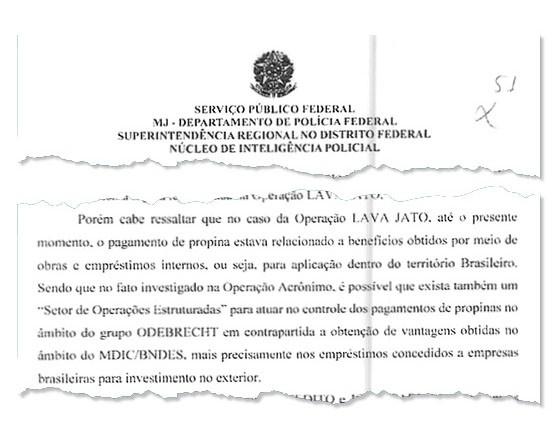 OPERAÇÕES ESTRUTURADAS Relatório da PF afirma que Odebrecht pode ter setor organizado para propinas fora do país (Foto: Reprodução)