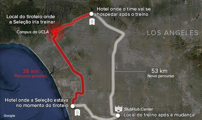 Mapa tiroteio seleção 3 (Foto: Infoesporte)
