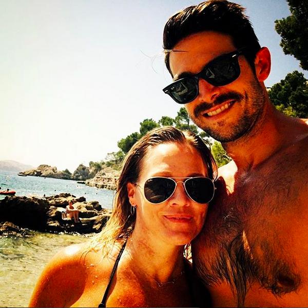 A atriz Jennife Garth com o ex-marido (Foto: Instagram)