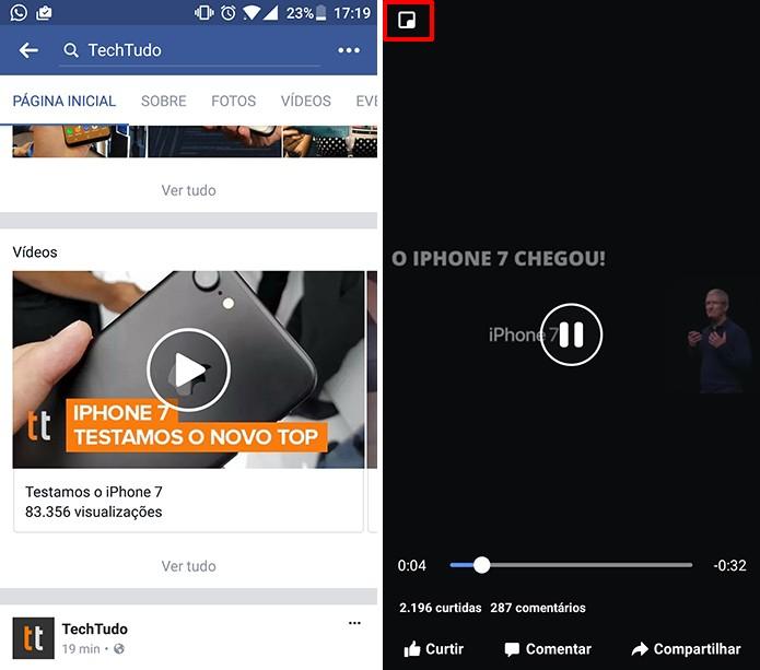 Facebook Android ganhará player de vídeo flutuante (Foto: Reprodução/Elson de Souza)