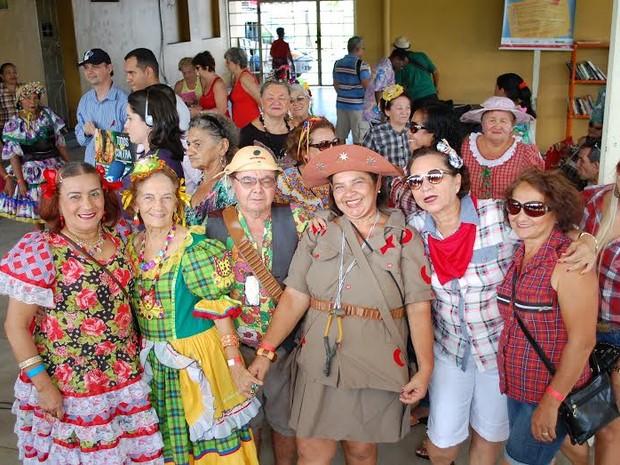 Festa junina acontece no Trem da Melhor Idade, na CBTU de João Pessoa (Foto: Dayane Ribeiro/CBTU)