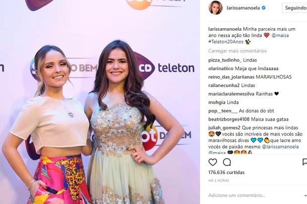 Larissa Manoela posta foto com Maisa (Foto: Reprodução/Instagram)