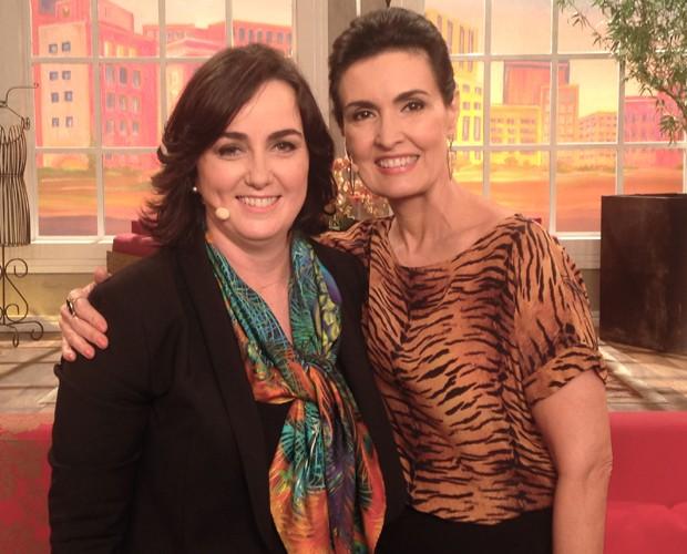 Fátima recebe Denise Hills do Itaú no Encontro para falar de crédito e planejamento (Foto: Encontro com Fátima/TVGlobo)
