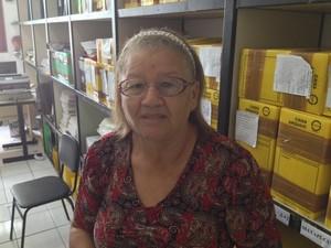 Agricultora Patrocínia Almeida, de 67 anos (Foto: Dyepeson Martins/G1)