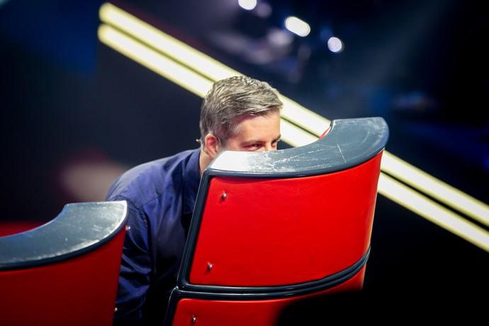 Leo durante os bastidores do reality musical (Foto: Isabella Pinheiro/Gshow)
