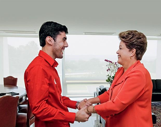 """AMOR Jeferson Monteiro e Dilma Rousseff. """"Dilminha é incrível, maravilhosa, espetacular"""", diz ele (Foto: Roberto Stuckert Filho/PR)"""