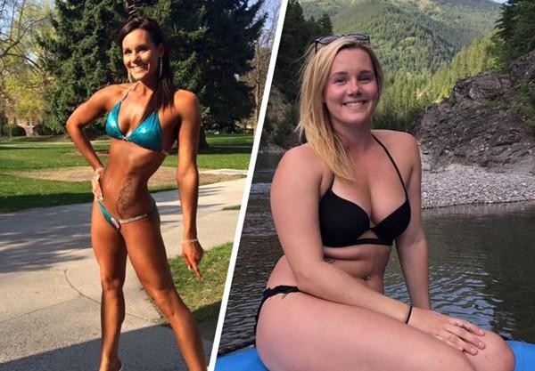 Jolene Jones compartilhou seu antes e depois ao contrário nas redes sociais (Foto: Reprodução / Facebook)