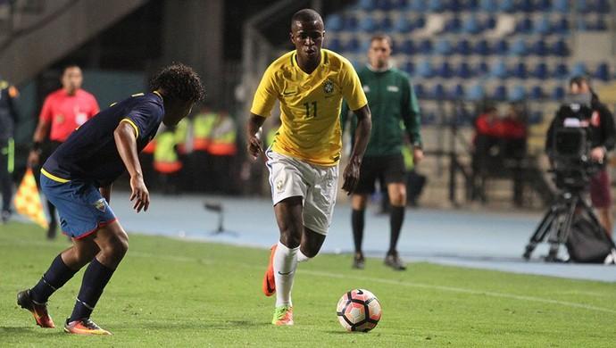 Vinícius Júnior Brasil Equador Sul-Americano Sub-17 (Foto: Divulgação/Sul-Americano Sub-17)