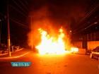 Ônibus é incendiado durante protesto na Zona Sul de São Paulo