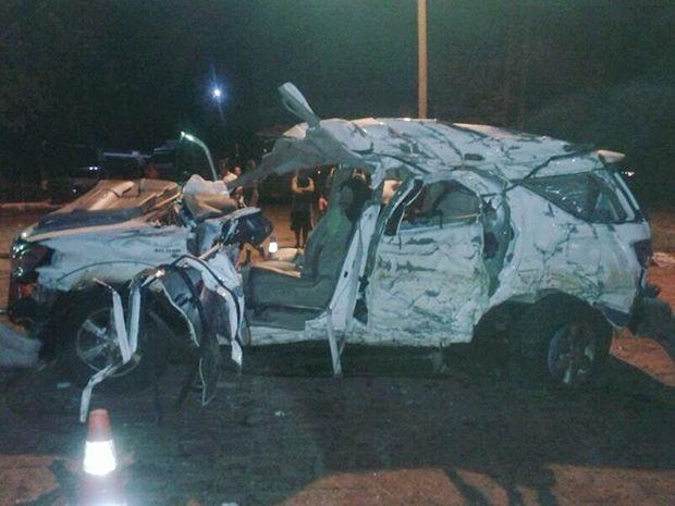 Criança de seis anos morreu em acidente na BR-364, em Jaciara (Foto: Assessoria/PRF-MT)