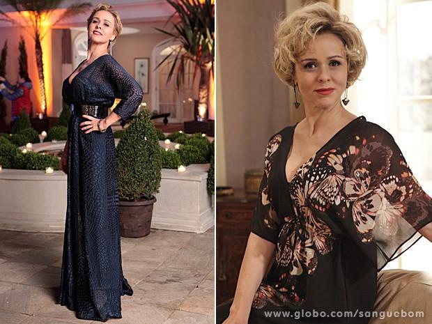 Bárbara Ellen arrasa com seus vestidos esvoaçantes. Puro glamour! (Foto: Sangue Bom/TV Globo)