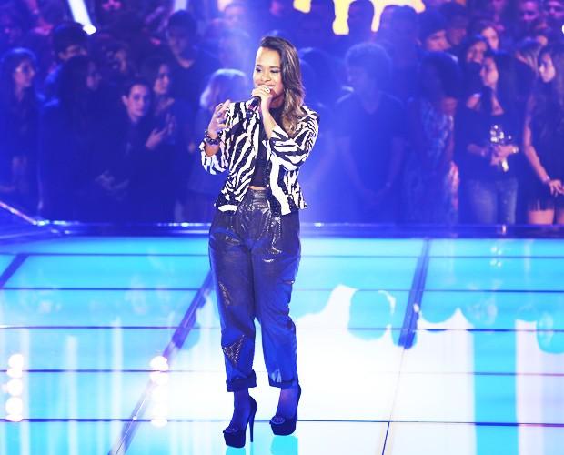 Samya Nalany se apresenta no primeiro Tira-Teima do The Voice Brasil (Foto: Isabella Pinheiro/TV Globo)